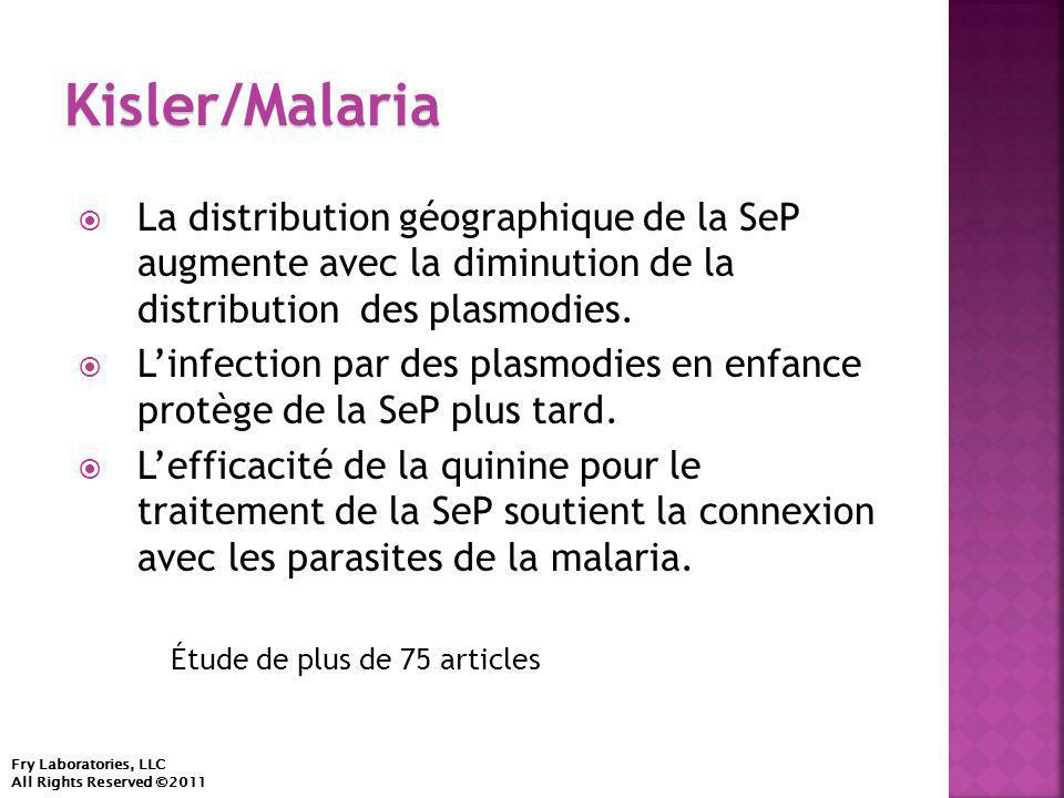  La distribution géographique de la SeP augmente avec la diminution de la distribution des plasmodies.