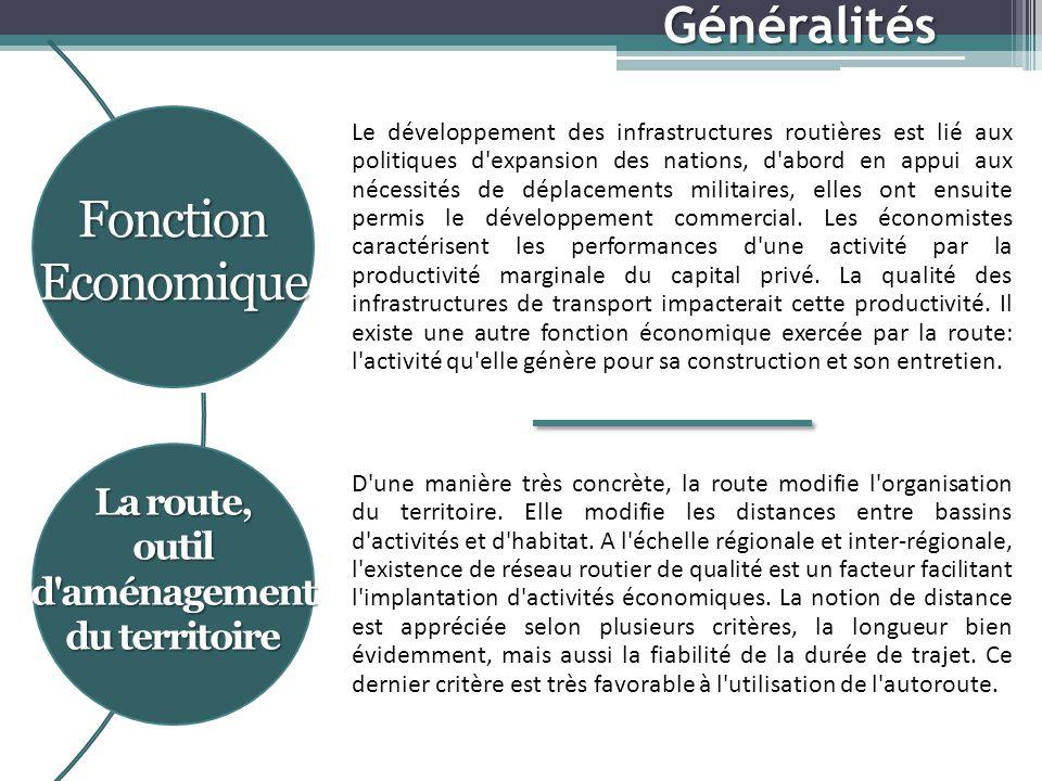 Le développement des infrastructures routières est lié aux politiques d expansion des nations, d abord en appui aux nécessités de déplacements militaires, elles ont ensuite permis le développement commercial.