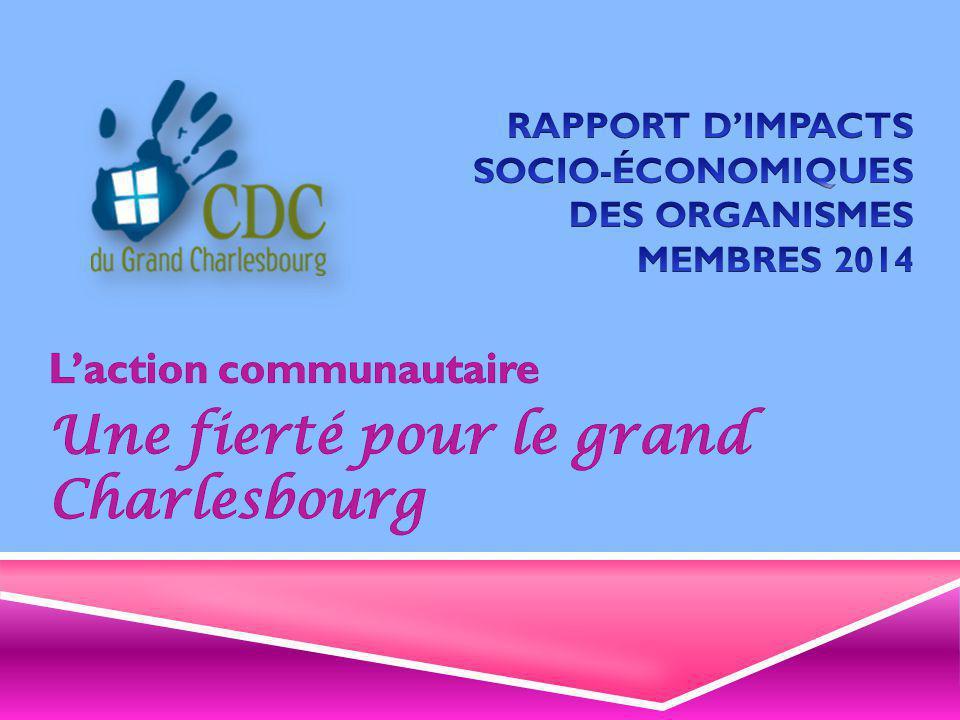Des organismes communautaires, fiers de leur apport économique SECTION 4 – EMPLOIS ET FINANCEMENT
