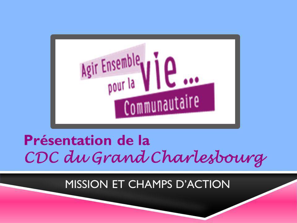 Présentation de la CDC du Grand Charlesbourg MISSION ET CHAMPS D'ACTION