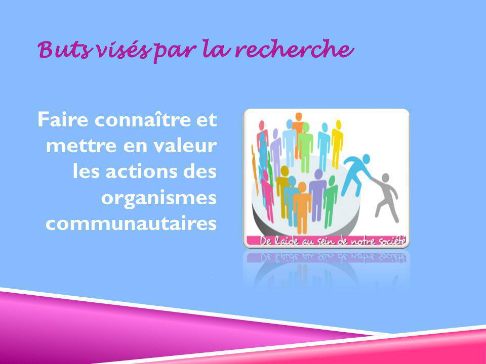 Des organismes communautaires, fiers de leur enracinement SECTION 3 – ENRACINEMENT DANS LA COMMUNAUTÉ