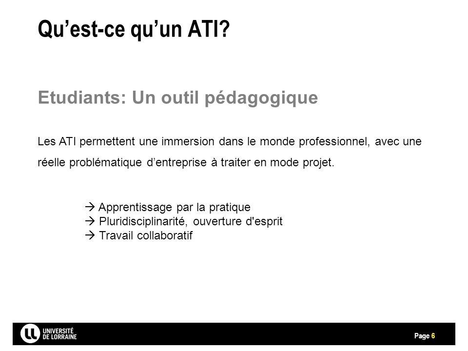 Page Qu'est-ce qu'un ATI.