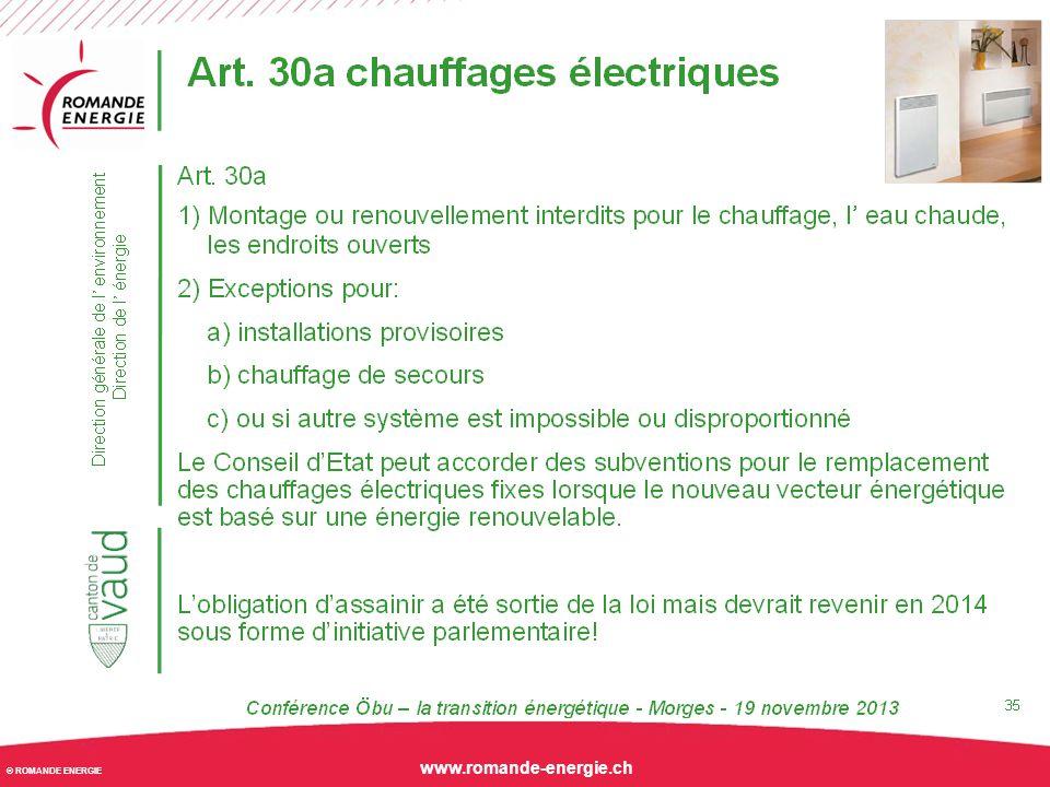 © ROMANDE ENERGIE www.romande-energie.ch