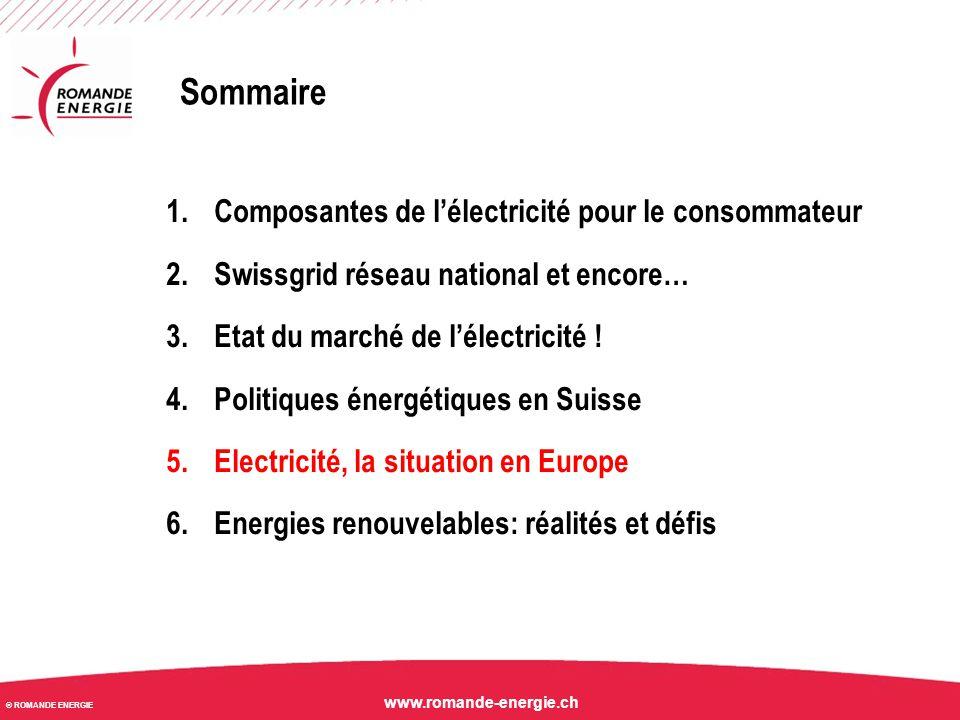 Sommaire 1.Composantes de l'électricité pour le consommateur 2.Swissgrid réseau national et encore… 3.Etat du marché de l'électricité ! 4.Politiques é