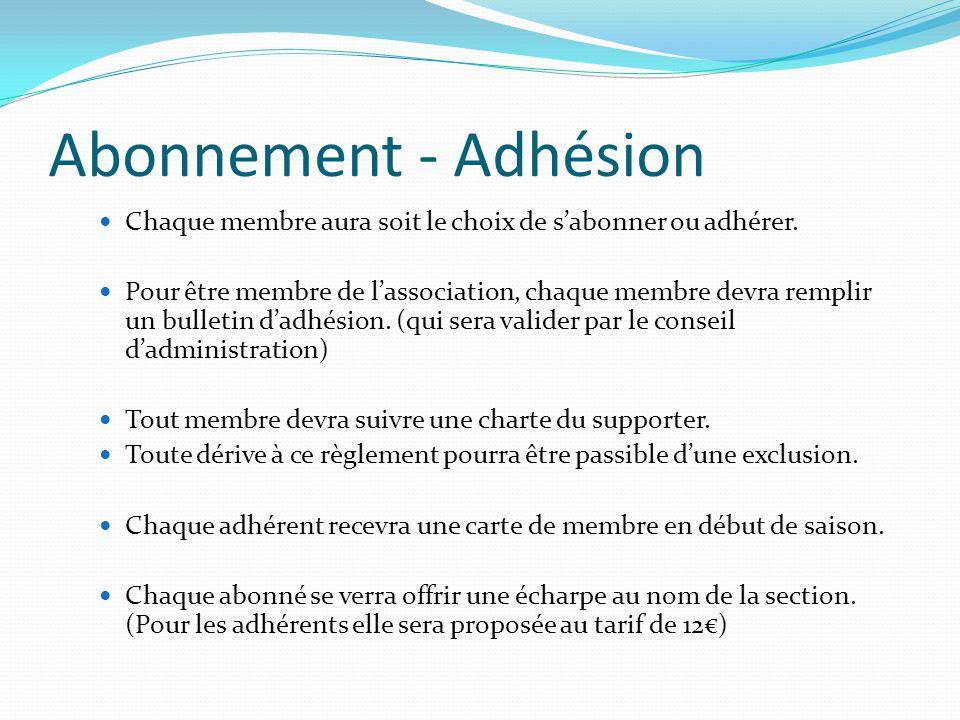 Abonnement - Adhésion Chaque membre aura soit le choix de s'abonner ou adhérer. Pour être membre de l'association, chaque membre devra remplir un bull