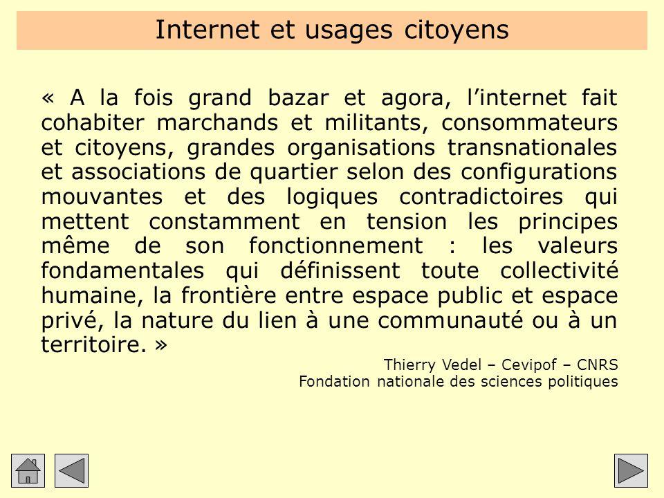 Internet et usages citoyens