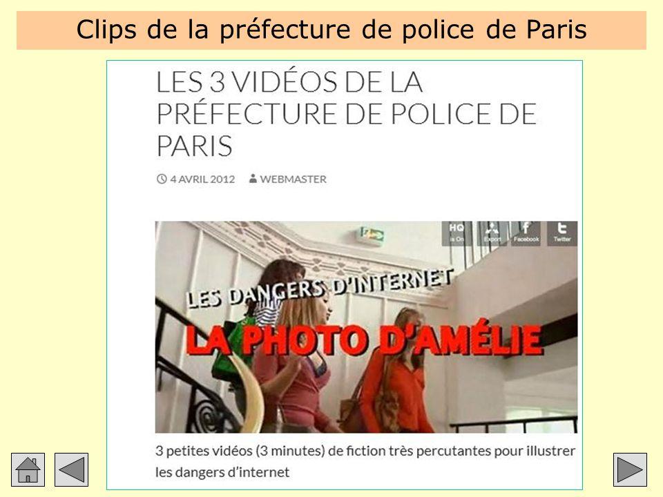 Clips de la préfecture de police de Paris