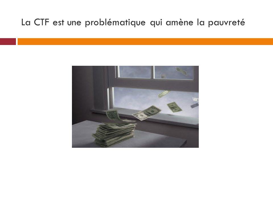 La CTF est une problématique qui amène la pauvreté
