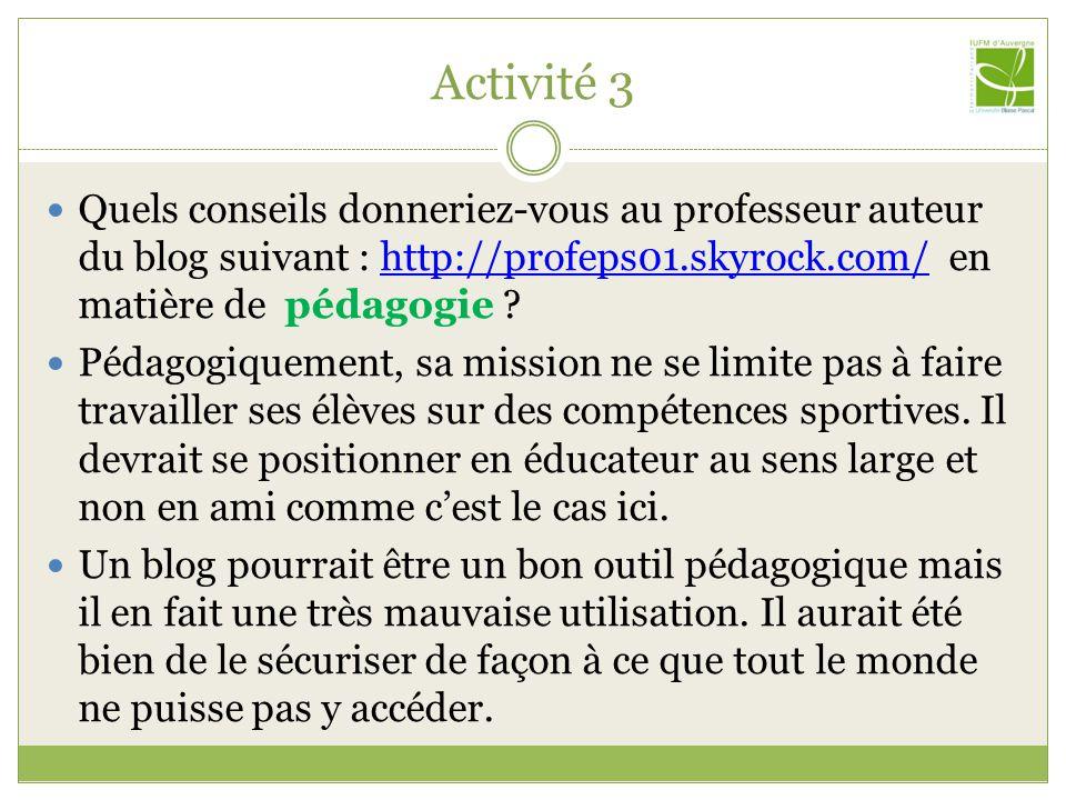 Activité 3 Consultez sur la plateforme le parcours pédagogique « Enjeux juridiques ».