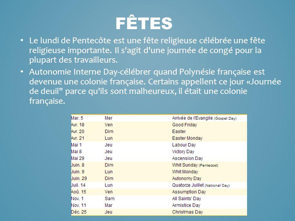 Le lundi de Pentecôte est une fête religieuse célébrée une fête religieuse importante. Il s'agit d'une journée de congé pour la plupart des travailleu