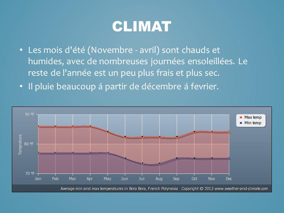 Les mois d'été (Novembre - avril) sont chauds et humides, avec de nombreuses journées ensoleillées. Le reste de l'année est un peu plus frais et plus