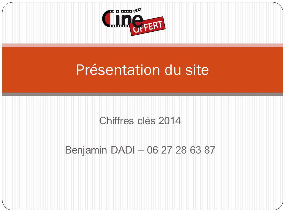 Chiffres clés 2014 Benjamin DADI – 06 27 28 63 87 Présentation du site