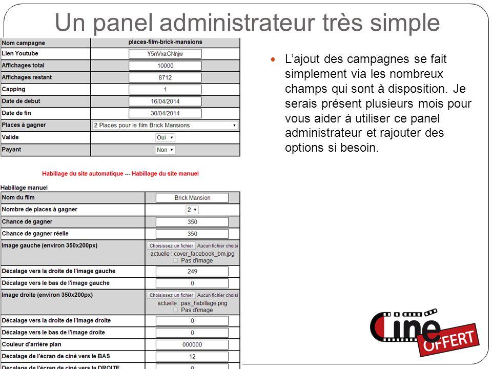 Un panel administrateur très simple Un système d'envoi d'emailing automatisé, espacé dans le temps afin d'éviter le SPAM.