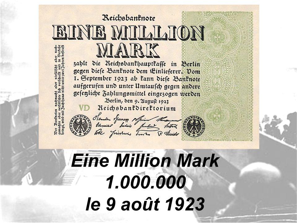 Cerf-volant fabriqué avec de l'argent allemand.