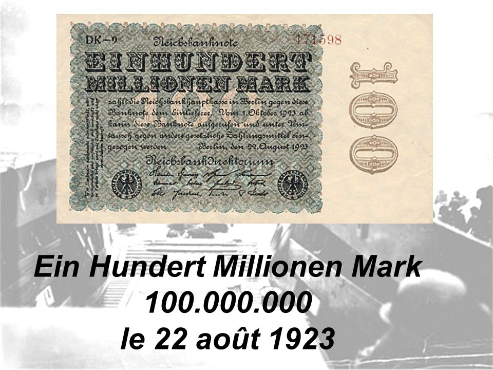 Eine Million Mark 1.000.000 le 9 août 1923