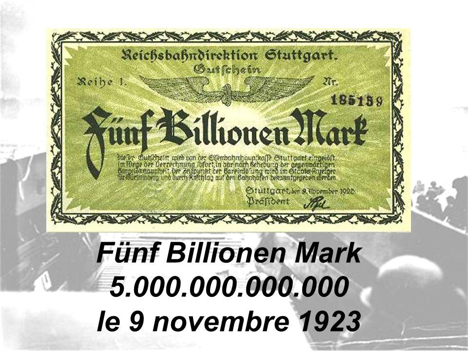 Ein Hundert Millionen Mark 100.000.000 le 22 août 1923