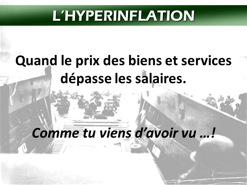 L'HYPERINFLATION!!.