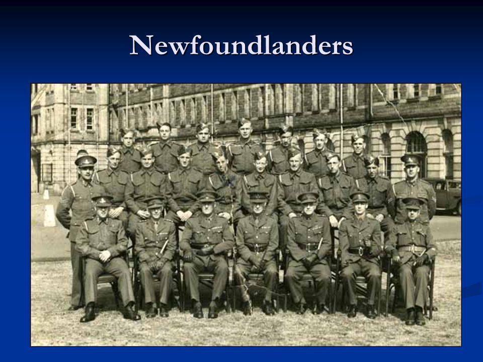 La contribution de Terre-Neuve Les Terre-Neuviens étaient des membres des forces armées, aériennes, et marines.