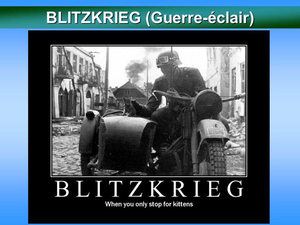 Phase 1 : Les défaites alliées En avril 1940 les Allemands ont pris l'offensive.