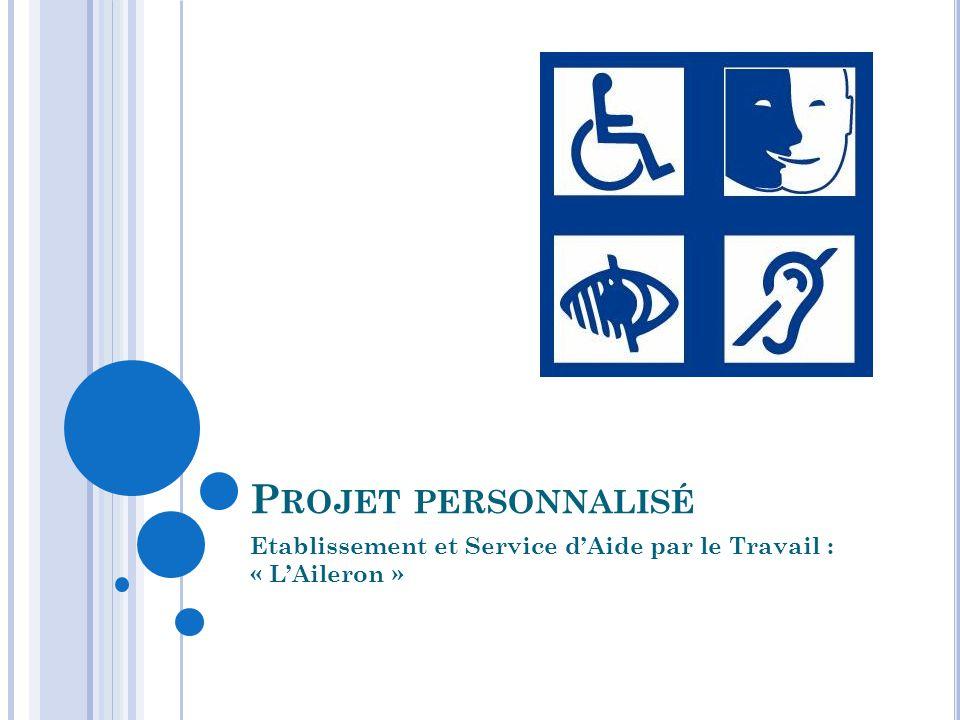 P ROJET PERSONNALISÉ Etablissement et Service d'Aide par le Travail : « L'Aileron »