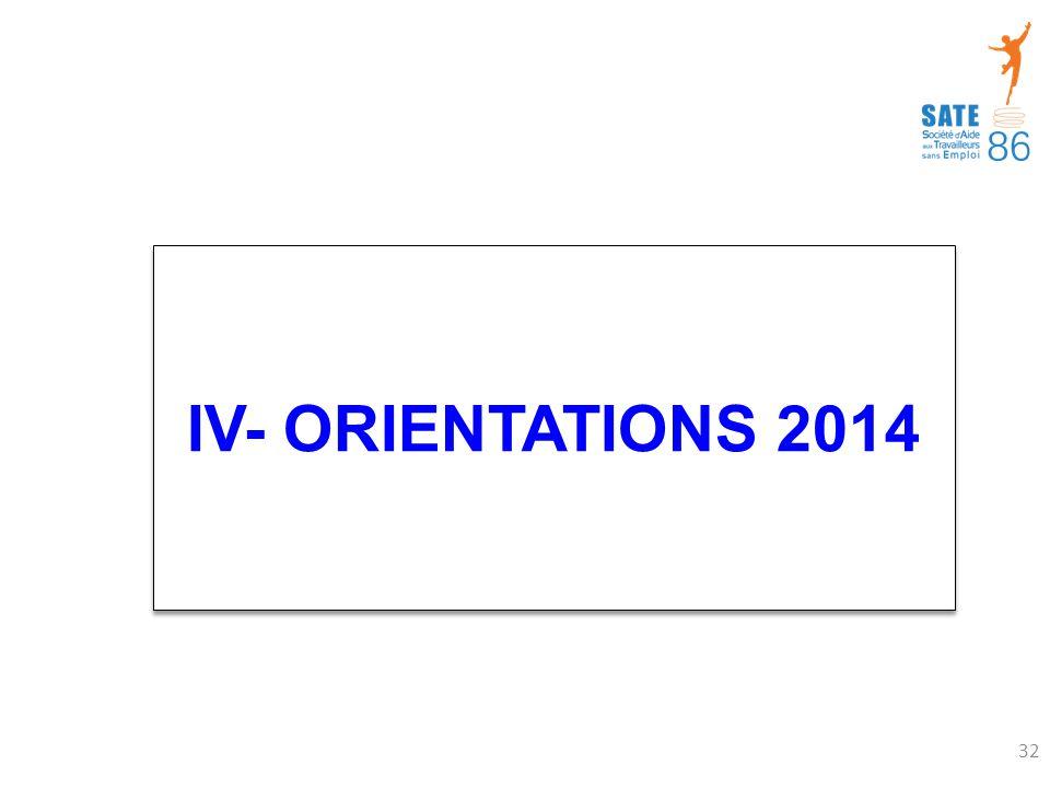 IV- ORIENTATIONS 2014 32