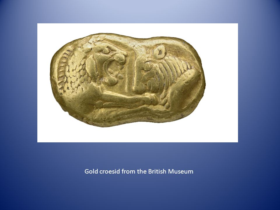 Gold croesid from the British Museum