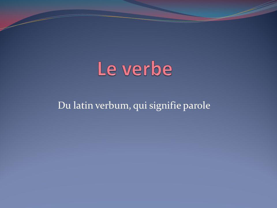 Du latin verbum, qui signifie parole