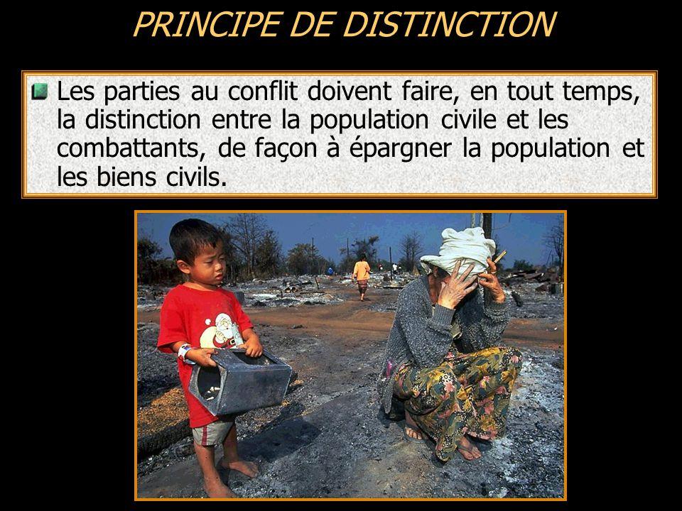 Personne civile toute personne qui n a pas le statut de combattant Perte de protection Si elles participent directement aux hostilités et pendant la durée de cette participation