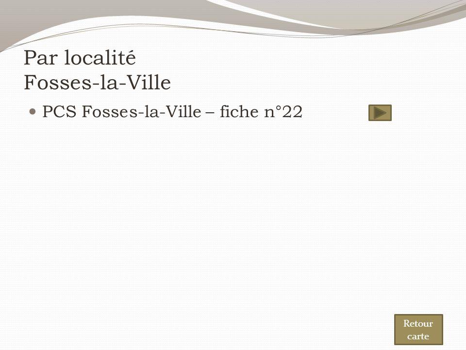 Par localité Fosses-la-Ville PCS Fosses-la-Ville – fiche n°22 Retour carte