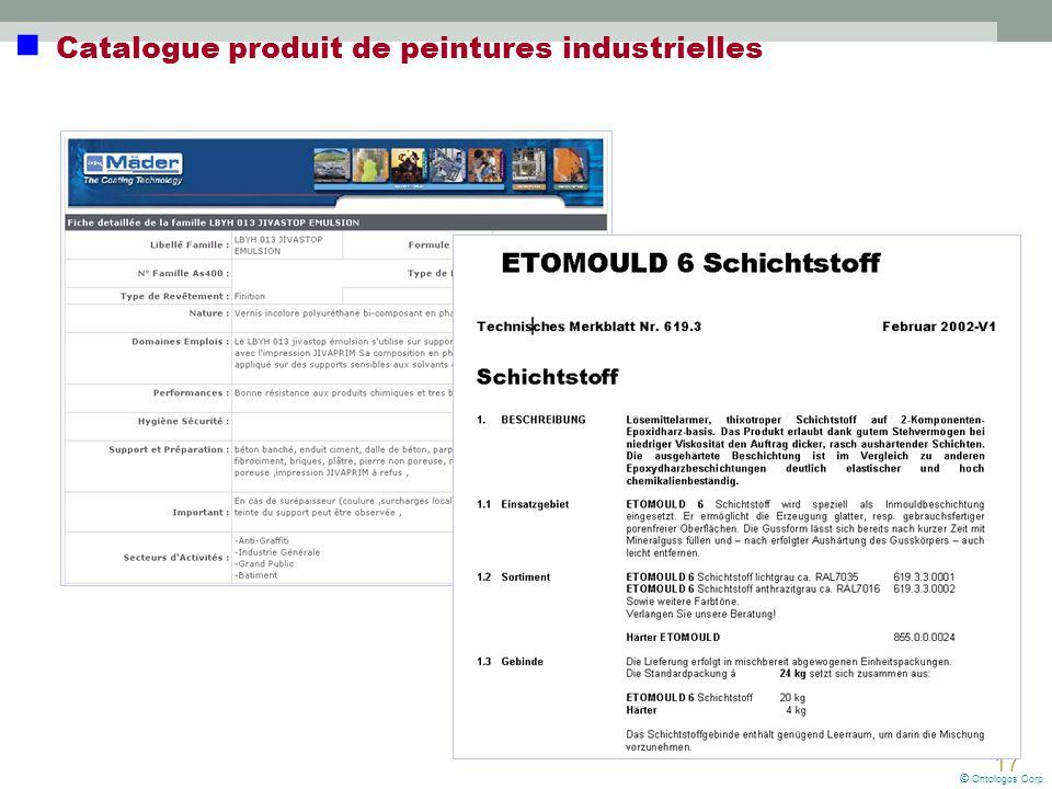 17 Catalogue produit de peintures industrielles © Ontologos Corp.