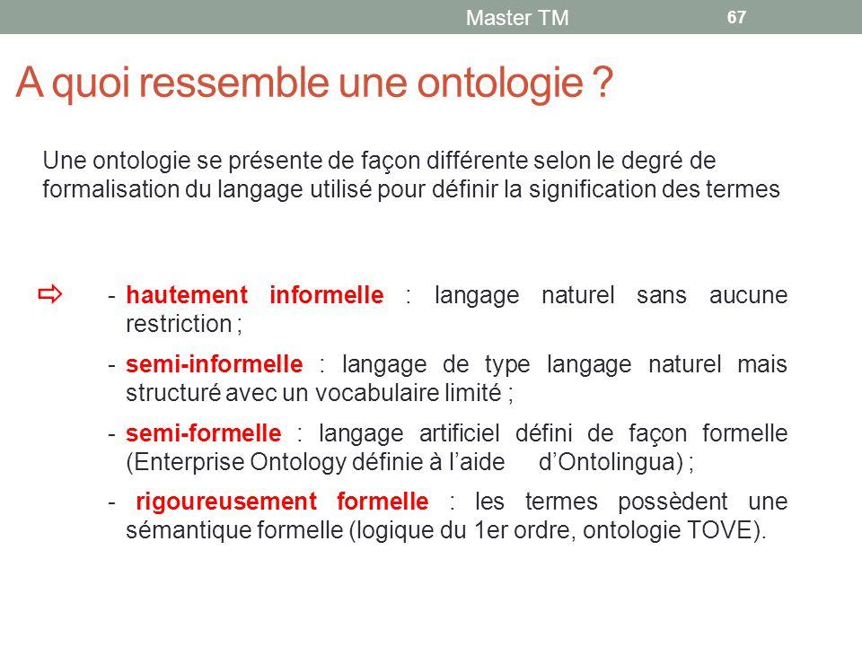 A quoi ressemble une ontologie .