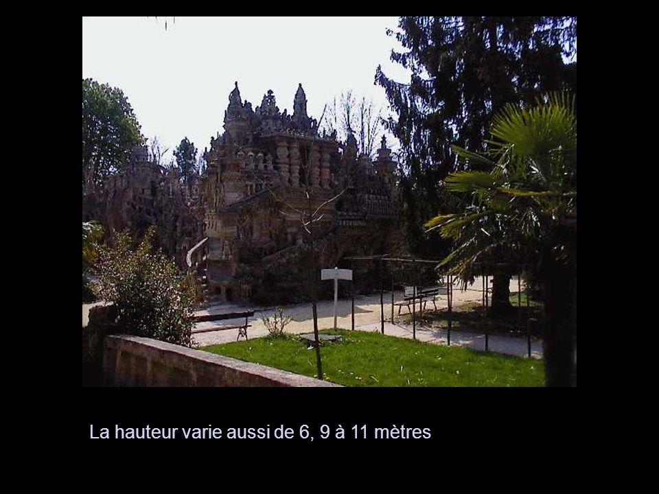 La longueur totale du monument est de 23 mètres, sa largeur à certains endroits est de 12 mètres.