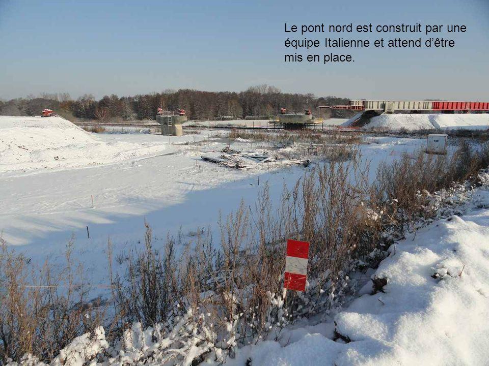 Intérieur du pont sous la neige..!