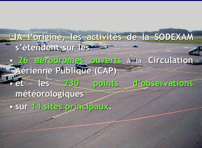 15 C.RESSOURCES MATERIEL & TECHNIQUE SODEXAM Notre mission: les Aéroports et la Météo