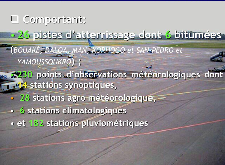 16  A l'origine, les activités de la SODEXAM s'étendent sur les 26 aérodromes ouverts à la Circulation Aérienne Publique (CAP) 26 aérodromes ouverts