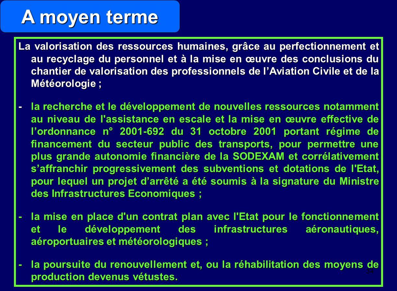 33 L'inspection et l'évaluation de l'état des infrastructures après le redéploiement de l'Administration ; -la poursuite du renouvellement ou de la ré