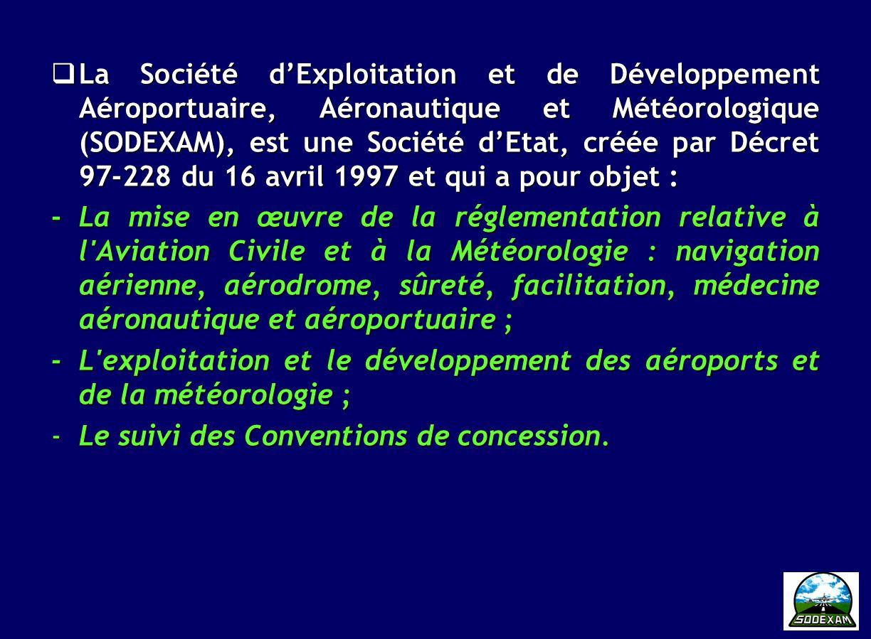 4 A.MISSION SODEXAM Notre mission: les Aéroports et la Météo