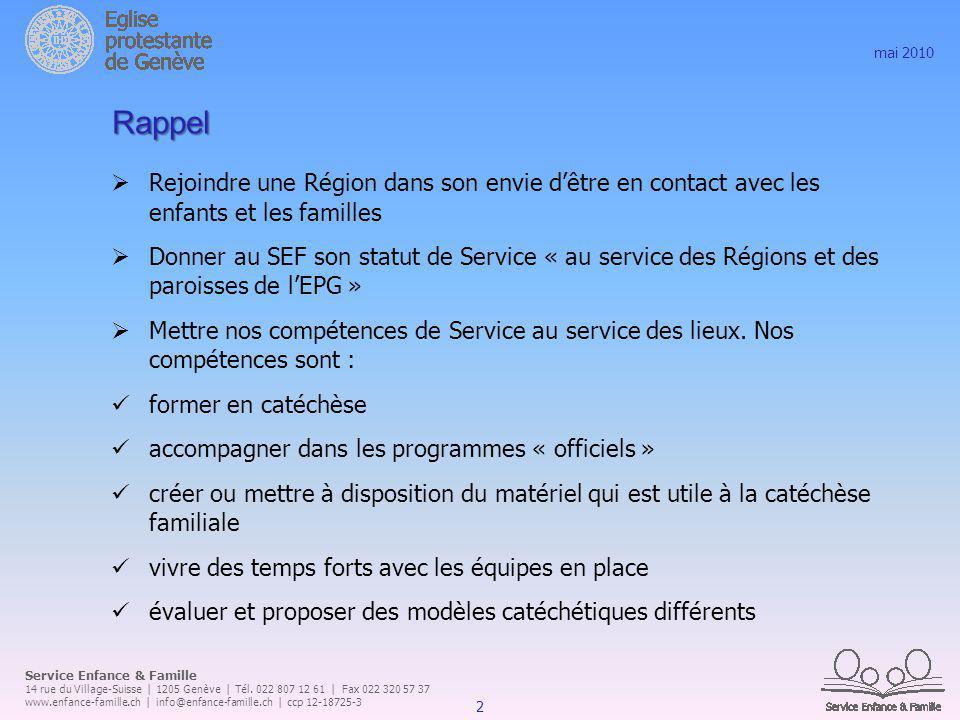 Service Enfance & Famille 14 rue du Village-Suisse | 1205 Genève | Tél.