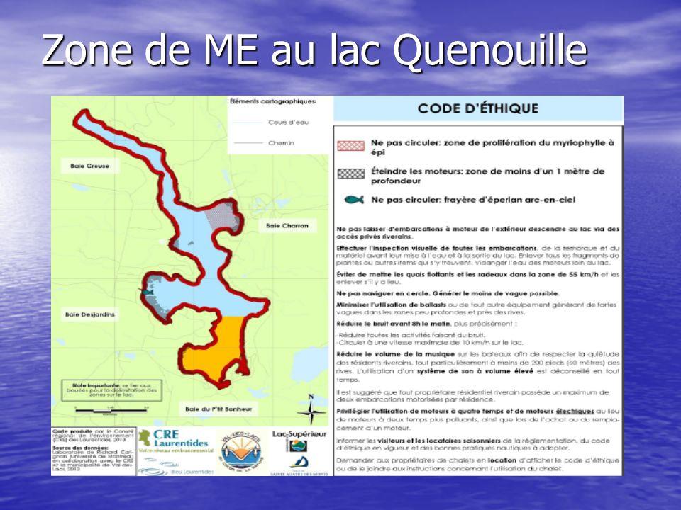 Zone de ME au lac Quenouille