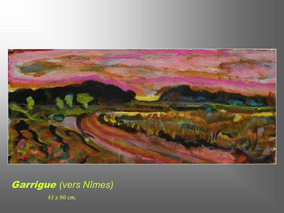Soleil Couchant à la Pointe Rouge (Marseille) 61 x 30 cm.