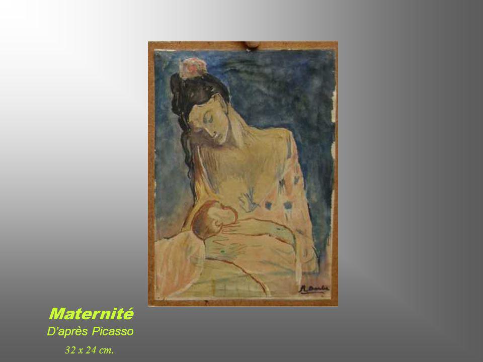 L'enfant au Pigeon D'après Picasso 29 x 22 cm.