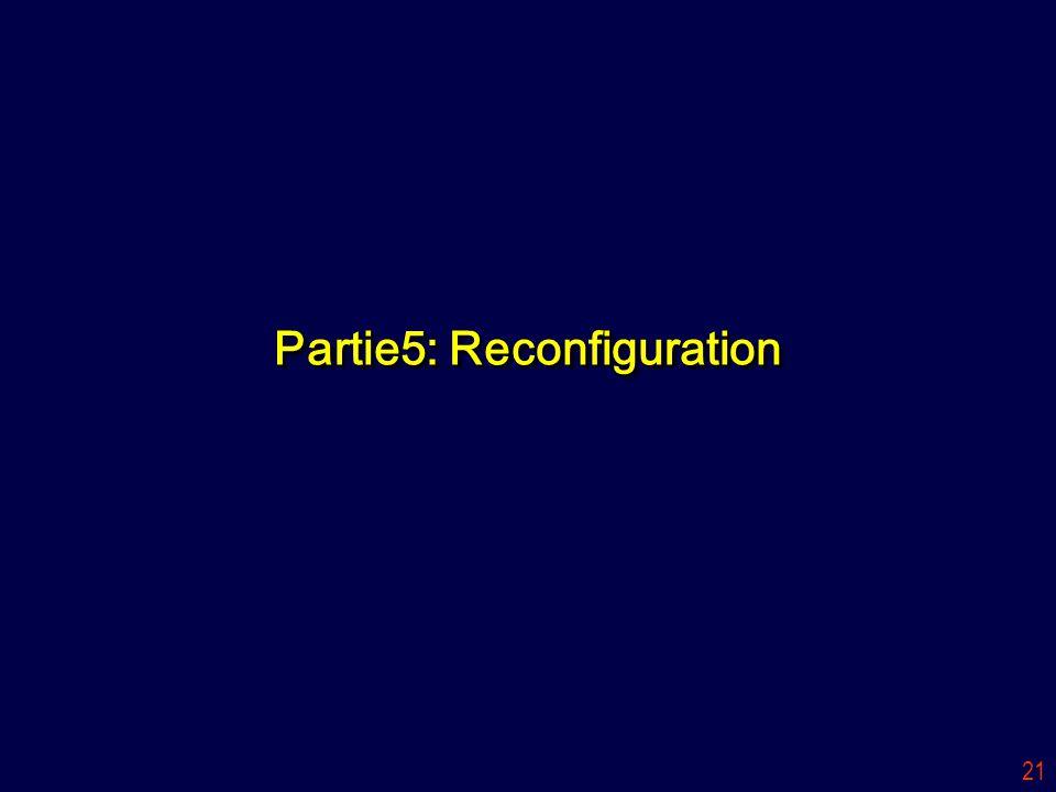 21 Partie5: Reconfiguration