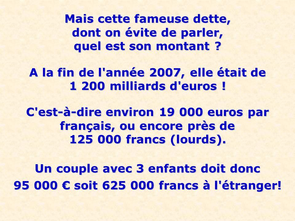 Un Président a même répondu à quelqu un qui se souciait de cette dette, qu il suffisait de vendre un peu d or des réserves de la Banque de France, sans savoir que ces réserves représentent seulement 15% de la dette .