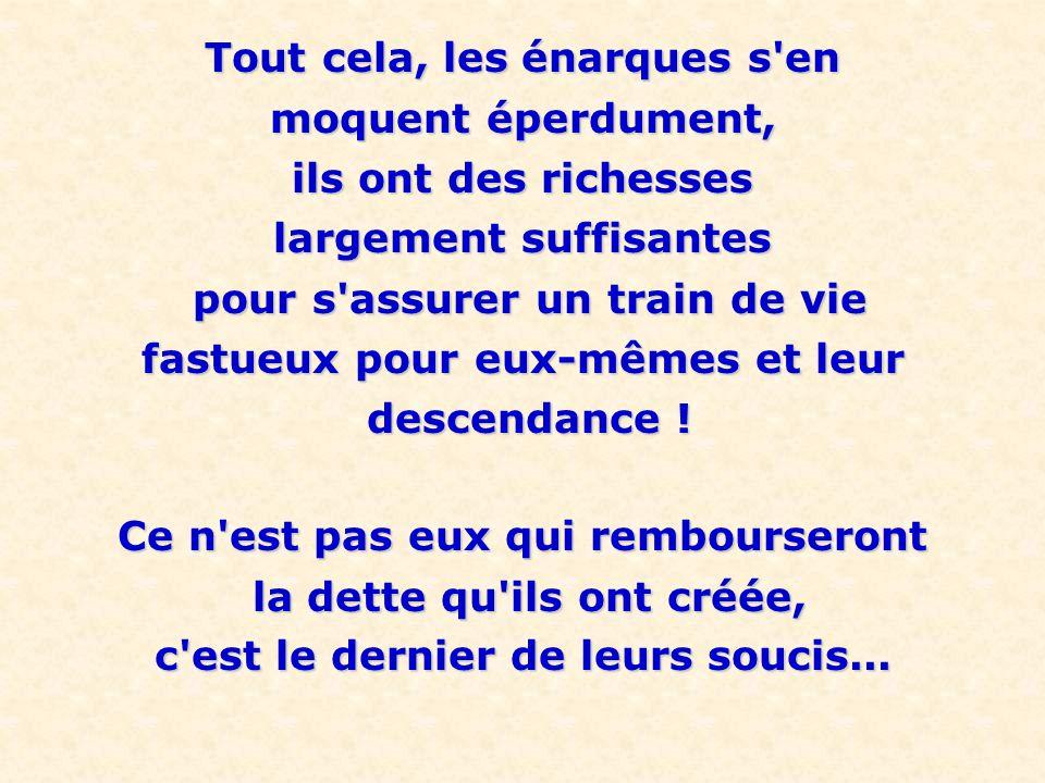 Il est triste de voir un pays riche et prospère comme la France, et prospère comme la France, réduit par l ENA (créée en 1945) réduit par l ENA (créée en 1945) à l état de pays sous-développé et ruiné, ridiculisé aux yeux des pays voisins.
