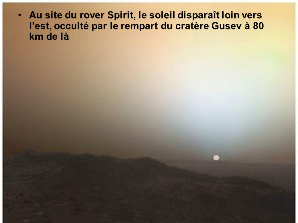 Vue, vers l ouest, du grand canyon Valles Marineris.