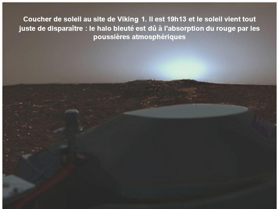 Vue de fin d après-midi en automne au site du rover Spirit.