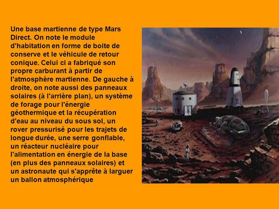 Une base martienne de type Mars Direct.