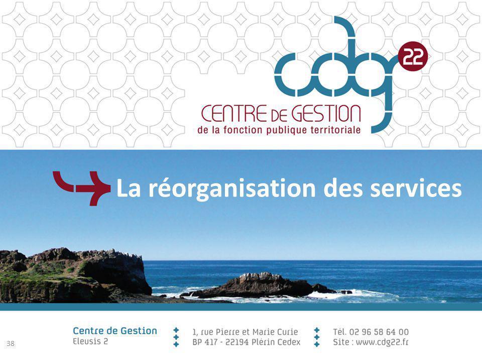 La réorganisation des services 38