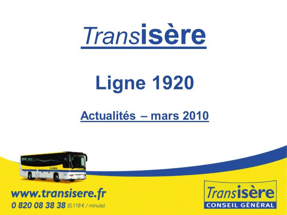 Trans isère Ligne 1920 Actualités – mars 2010