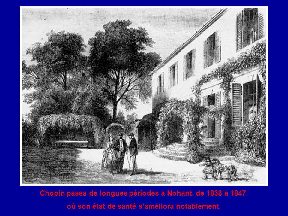 La Baronne Dudevant tomba amoureuse de Chopin. Elle voulut s'occuper de lui afin que sa santé s'améliore et qu'il puisse consacrer plus de temps à la